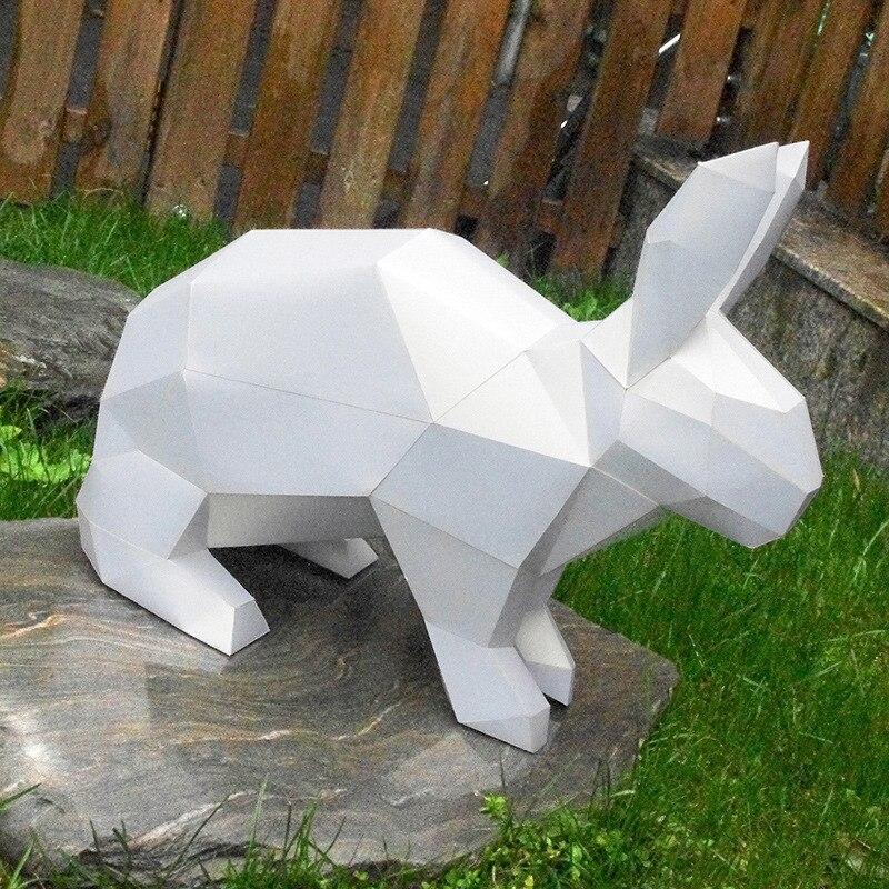 3D головоломки детские игрушки выгодно мудрость Diy Бумага качество Модель Руководство трехмерная Бумага Модель-кролик (24 страницы)