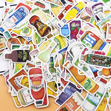 225pcs Cute food and drink diary sticker Photo album decoration food adhesive stickers/ self made DIY sticker