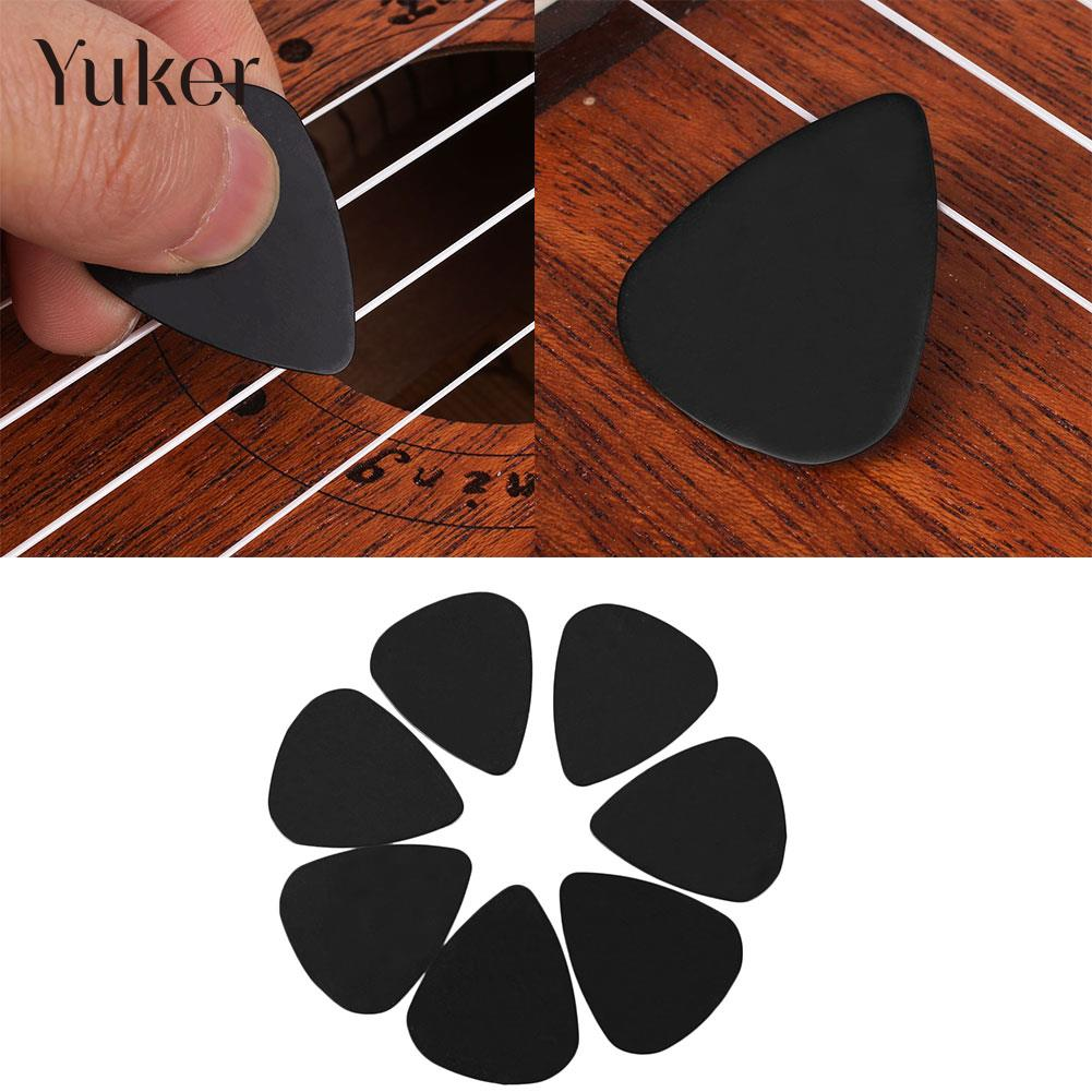 Yuker 100Pcs Black Acoustic Guitar Picks Celluloid Heavy 0.71mm Plectrums Musical Instrument Guitar Parts Accessories