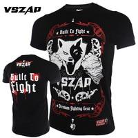 2018 New Fashion Men T Shirt Brand VSZAP Fight Wear MMA Mens Short Sleeves T Shirt