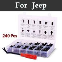 240 pz Stile Auto Spinta Fermo Kit Trasporto Fastener Remover, Assortimento Fermo Clip Per Jeep Cherokee Compass Grand Srt8