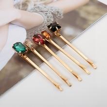 50Pcs/Lot Gold Diamond Hairpin Diy Female Word Clip Hair Accessories Girls Clips For Women Wedding Headdress Wholesale