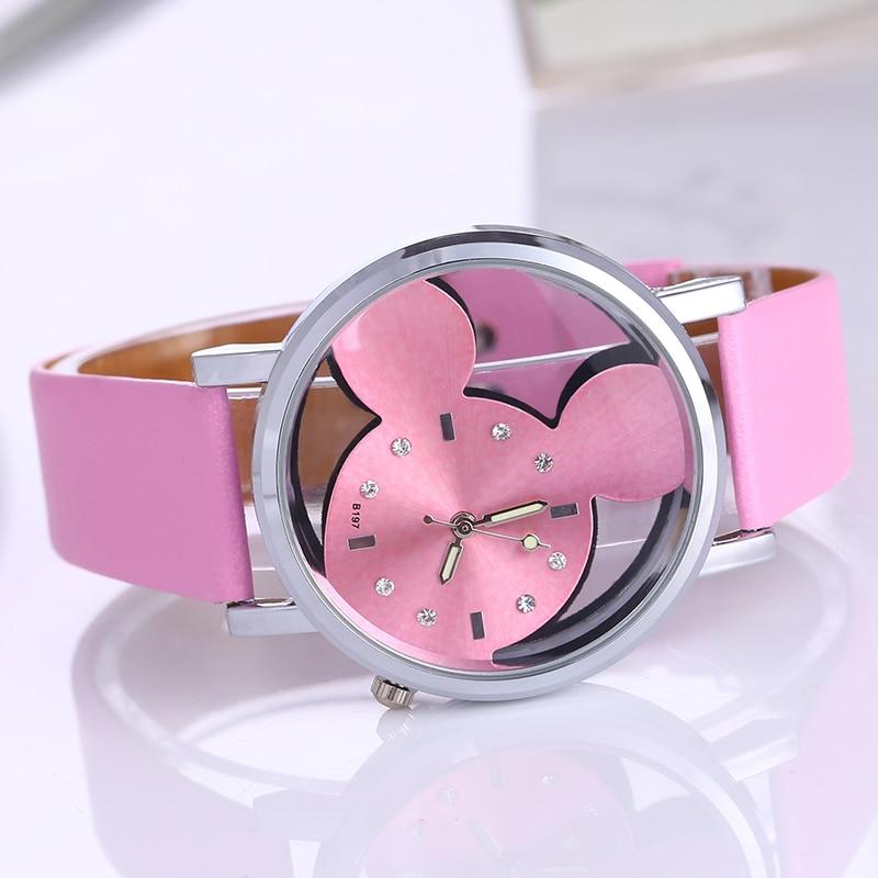 Crystalline Wristwatch female 2016 Fashion Brand Luxury cartoon Patt Casual Quartz watch Ladies Dress Clock Girl Cartoon Watches