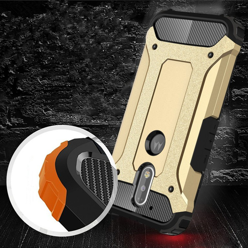 Heavy Duty Armor Tough Rubber Hybrid Cover for Motorola Moto Z Play Force G4 XT1625 XT1624 G4 G5 G6 Plus Silicone capa Hard Case