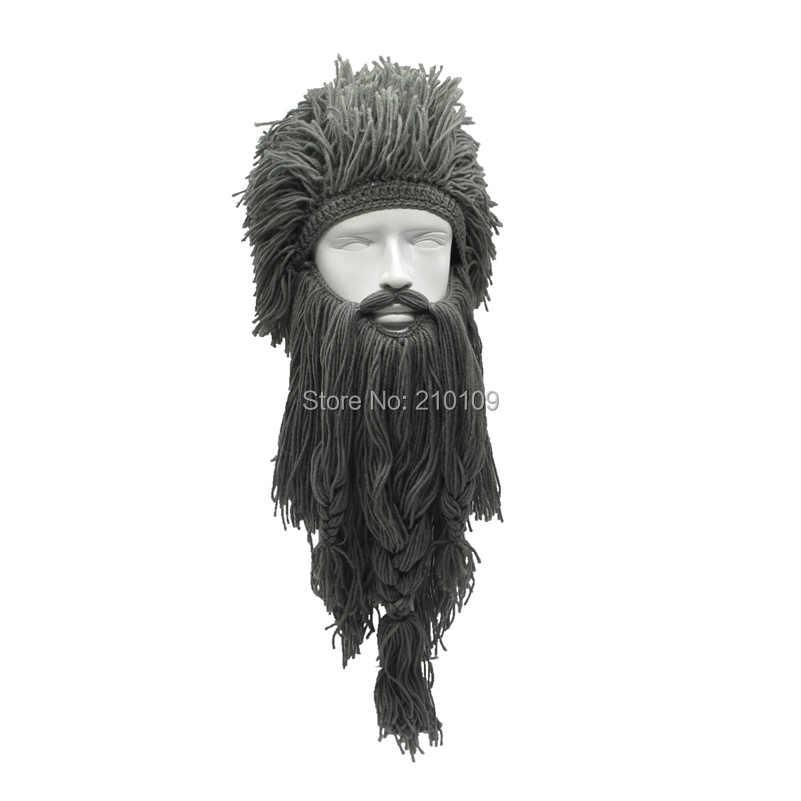Mr. Kooky Unisex Verrückte Perücke Lange Bart Vikingar Mützen Vikings Hüte Handgemachte Winter Cosplay Geschenke Lustige Halloween Kostüme Kappen