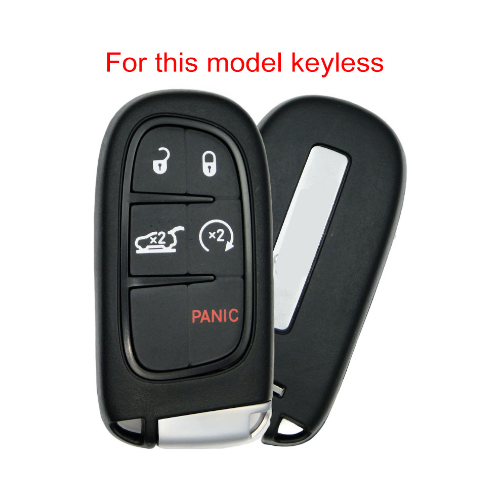 Keyrings & Keyfobs Silicone Key Fob Case Cover for Jeep wrangler ...