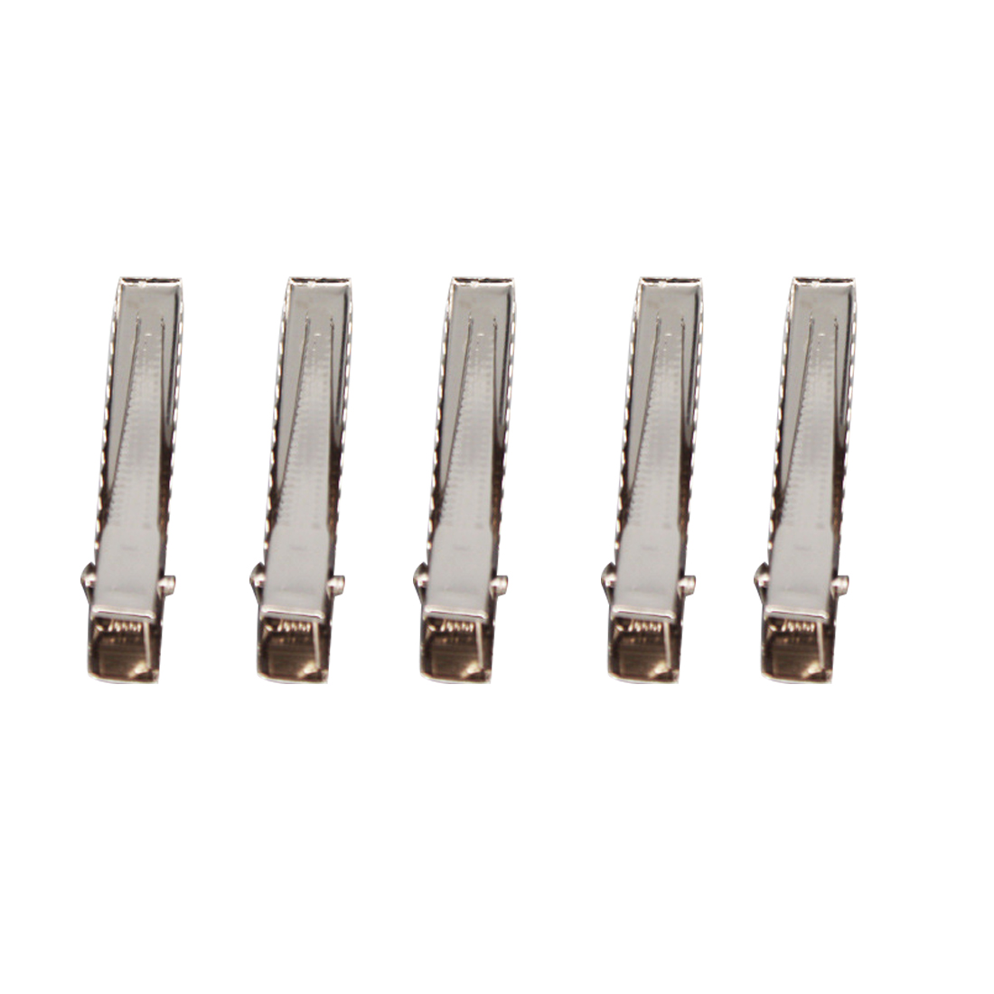 Лидер продаж 50 шт. серебристый плоский металлический Одноместный зубец Аллигатор Заколки для волос заколка для Луки DIY аксессуары заколки аксессуары