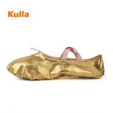 Hot Women Soft sole ballet dace shoes flat Slip-On ballet pointe shoes for girl lady Children professional dancing shoes 2 color