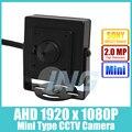 AHD Mini Тип HD Sony IMX322 1920x1080 P 2.0MP Крытый 3.7 мм Объектив Камеры Металл Безопасности Камеры CCTV Камеры (бесплатная доставка)