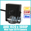 AHD Mini Type HD Sony IMX322 1920 x 1080P 2.0MP Indoor 3.7mm Lens Camera  Metal Security Camera CCTV Cam (Free shipping)