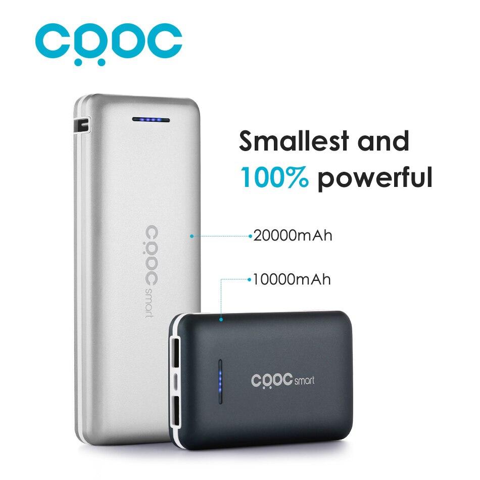 Crdc li-polímero banco de la energía 20000 mah mini cargador de batería externo