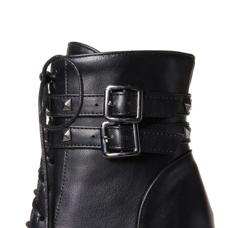 Memunia Tacones De Altos Botas Moto Zapatos Mujer Moda axvHqwaZ 16e9baf3086c