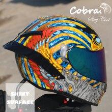 Cobra Pieno Viso Casco Del Motociclo Corse di Motocross Con Arcobaleno Visiera del Casco Casco Da Moto Capacete DOT approvato Kask