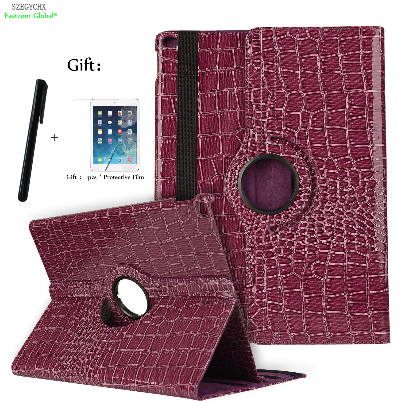 Tablet Case For iPad Mini 4 360 Rotation Crocodile PU Leather Protective Sleeve Smart Cover Auto Wake Shell model A1538 / A1550