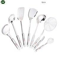 Dee Exquisite Stainless Steel Kitchenware Set Spatula Spoon Kitchen Utensils Iron Shovel Supplies