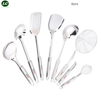 8PCS Cooking Tools Set stainless steel Kitchenware set Spatula Spoon Kitchen Utensils Shovel supplies SS#304