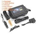 Alonefire G910 СВЕТОДИОДНЫЙ Масштабируемые USB Фонарик Факел CREE XM-L T6 водонепроницаемый увеличить фонарик с Батареей 18650 и зарядное устройство