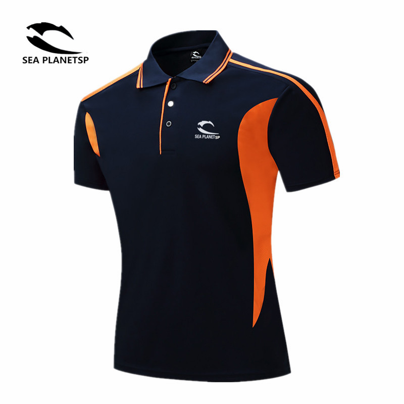 SEA PLANETSP New 2019 Brand Solid Stand collar polo Shirt Casual Men Summer Short-sleeve Camisa Polo Slim Fit Men Shirt 24 color