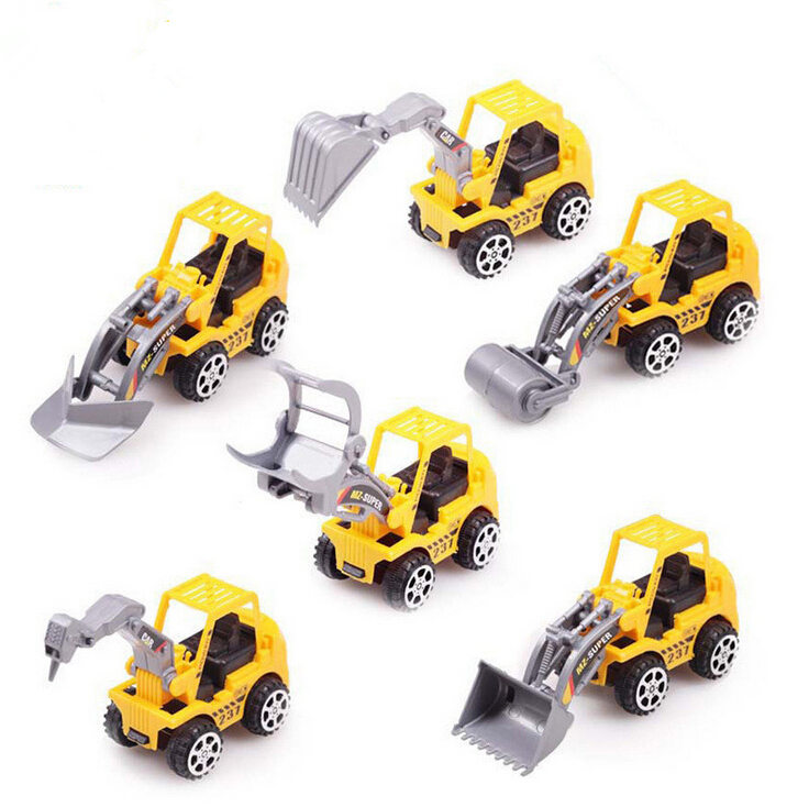 aliexpresscom buy new 6 types diecast mini plastic construction vehicle engineering car trucks artificial model classic hot toys for boy kids from