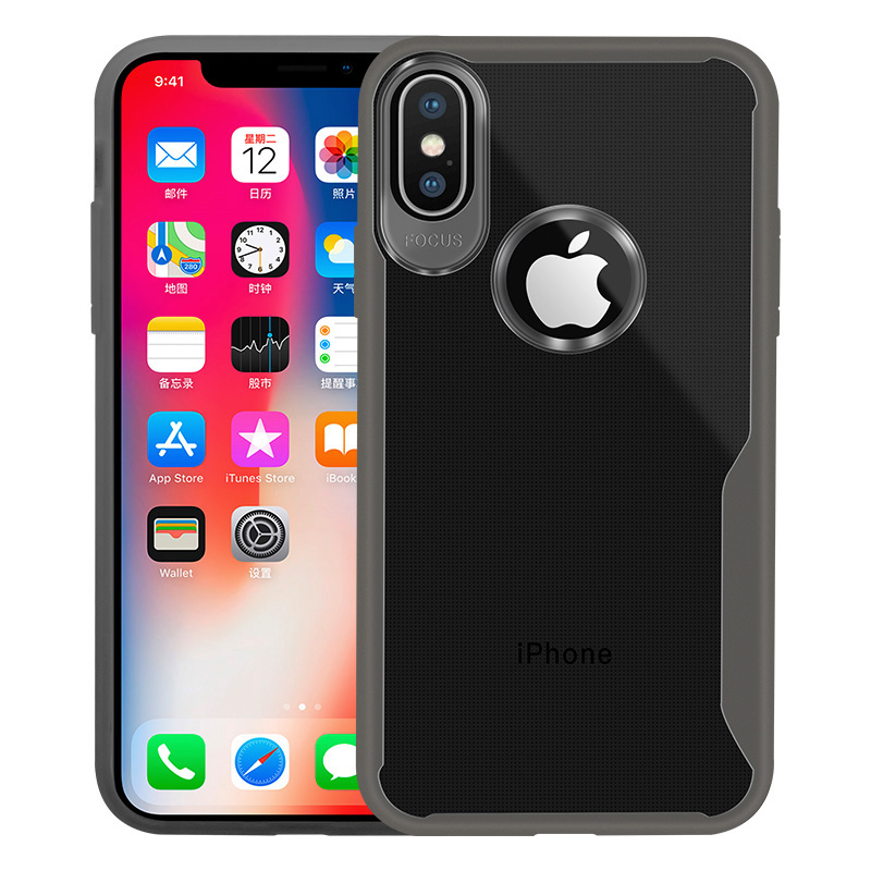 KIPX1089B_10_JONSNOW Transparent Phone Case for iPhone 7 8 Plus 6S 6 Plus Soft Glue All-inclusive Protect Cover for iPhone X XR XS Max
