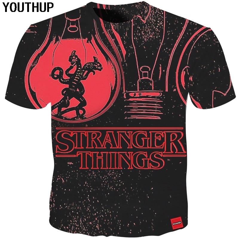 YOUTHUP अजनबी चीजें टी शर्ट - पुरुषों के कपड़े