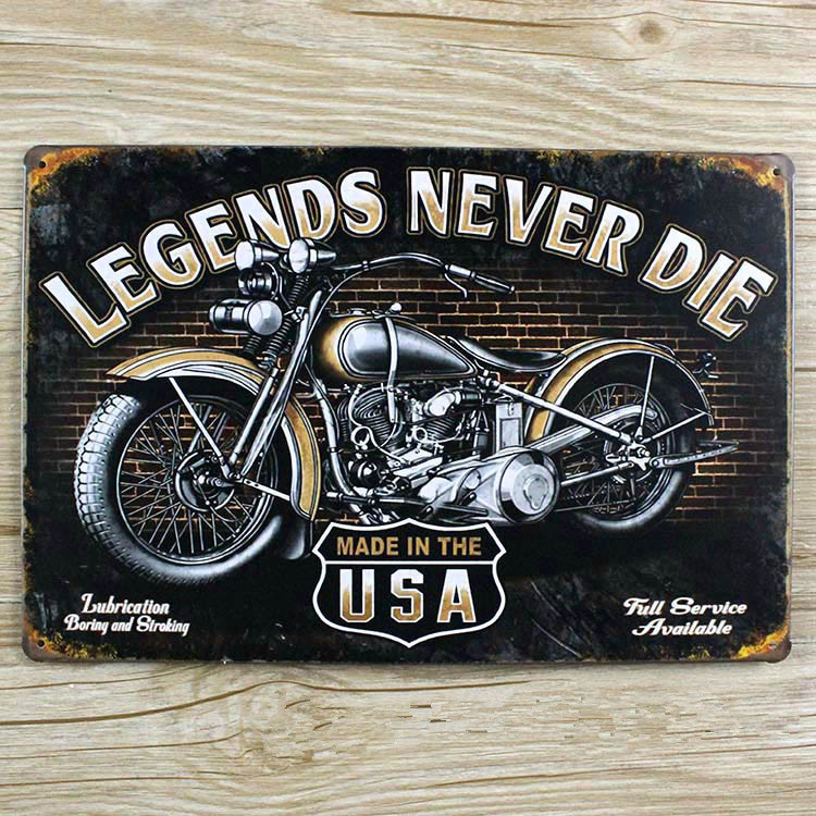 20x30cm wall pictures USA motorcycle Tin Signs Vintage House Cafe Restaurant Poster Metal Craft ART for decoration