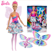 Original Brand Rainbow Lights Mermaid Barbie Doll Feature Mermaid  Doll The Girl A Birthday Present Girl Toys Gift Boneca barbie original brand holiday ethnic collectible barbie doll princess toy girl birthday present girl toys gift boneca drd25