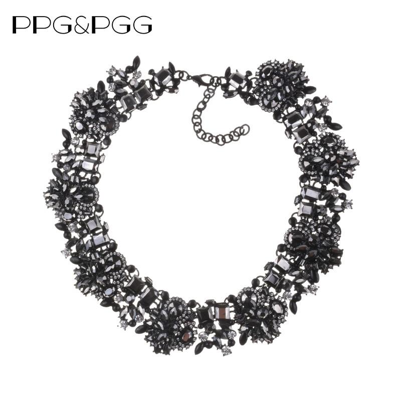 PPG&PGG Charm Fashion Jewelry Gorgeous Z Brand Black Rhinest