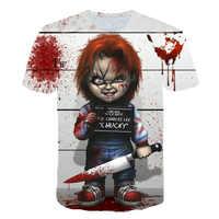 Camiseta con estampado 3D de Terror Doll con múltiples patrones y estilos de verano de manga corta
