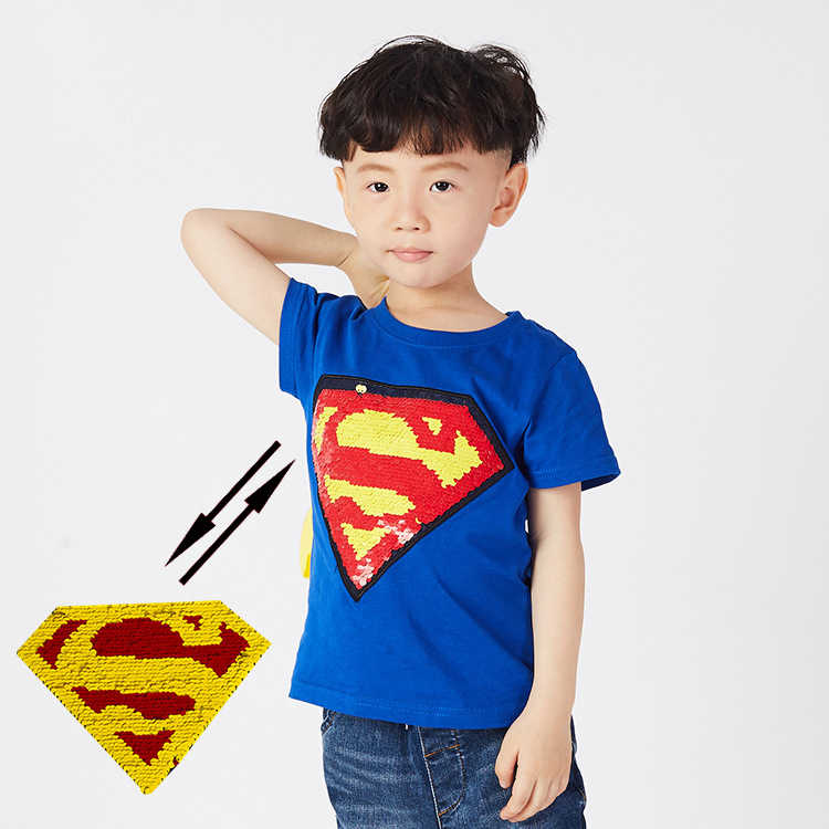 cd9aca21f ... Summer baby tee boys t shirt kids fashion pullover children casual tops  spiderman batman super hero ...