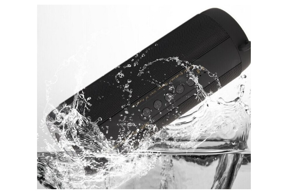 Portable Bluetooth Speaker Wireless Bicycle Column Waterproof For Computer Notebook Radio FM TF AUX LED Shower Vibrator Speakers