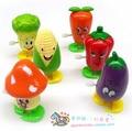2015 Top moda Sale Multicolor Unisex Vintage en línea tienda de juguetes Wind Up caminar verduras y frutas juguetes de plástico