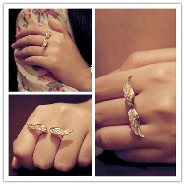 SHUANGR Ladies Love Angle Opening Stainless Steel Rings Rose Gold Color Bague toe Anillos Gift TR070