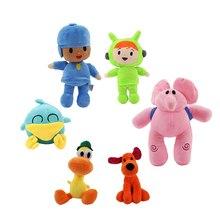 6 стилей Pocoyo Плюшевые игрушки Pocoyo Nina Loula собака Пато утка Элли слон ребенок сонный птица мягкие куклы Подарки для детей