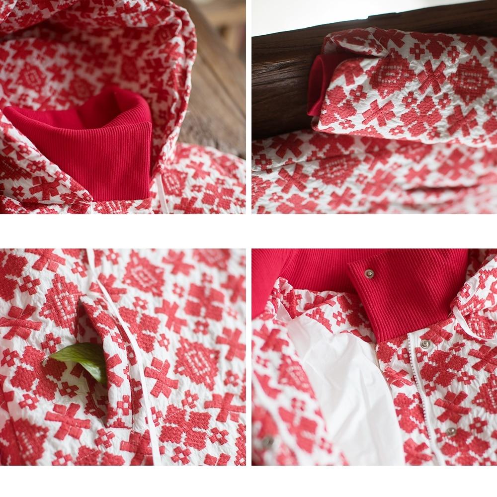 De Femmes Nouvelle Veste Rouge Duvet Brodé Canard Lâche Manteau Vintage 2017 Blanc Arrivée À D'hiver Long Capuchon Mm211 6wP1RCqnC