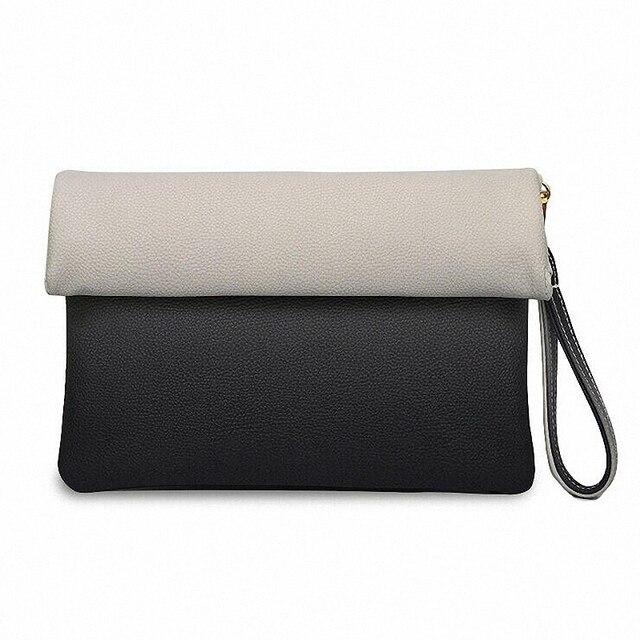 Summer Style Female envelope bags Patchwork Women Leather Bag Day Clutches Bolsa Feminina Wristlets women Clutch wallet LI-1140