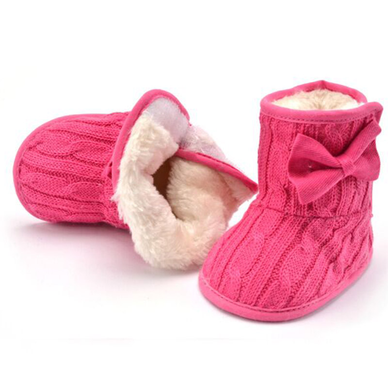 Winter First Walkers Handmade Baby Booties Winter Shoes For Baby Girl Warm Boots White Pink Red Baby Winter Boot Prewalker Shoes