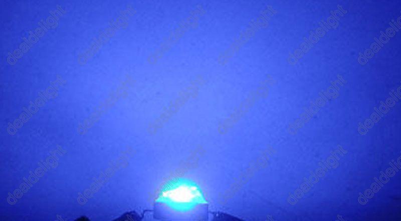 10 шт. 1 Вт Королевский синий высокомощный светодиодный излучатель 450-455NM без основания для растительного шкафа/бака/аквариума