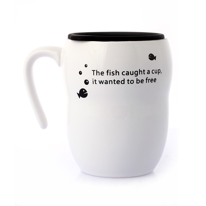 Aliexpress Com Buy Personality Black And White Fish Mug