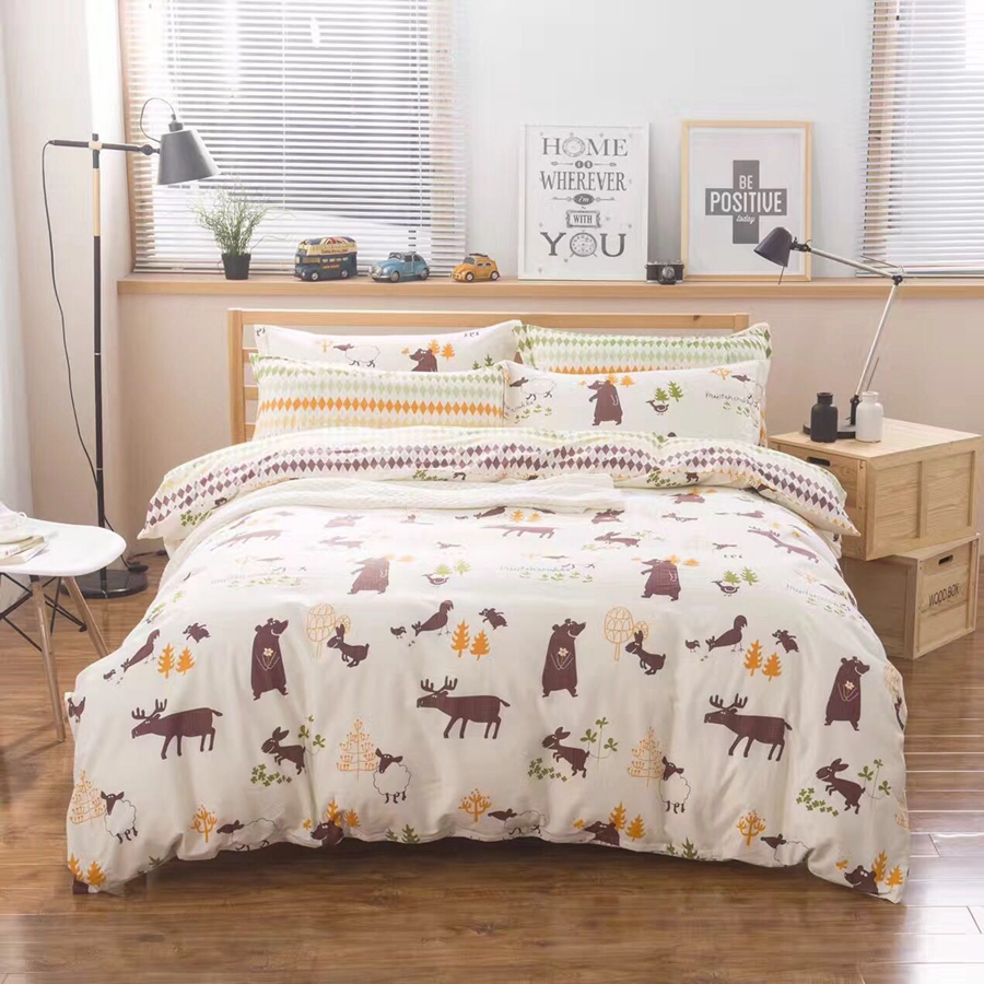 twin full queen size bedding bedding set cotton 100 cartoon cartoon duvet cover bedding. Black Bedroom Furniture Sets. Home Design Ideas