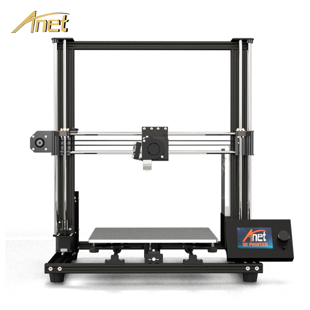 2019 New Anet A8 plus Upgrade 3D Printer Kit Plus Size 300*300*350mm High Precision Metal Desktop 3D Printer DIY Impresora 3D plywood