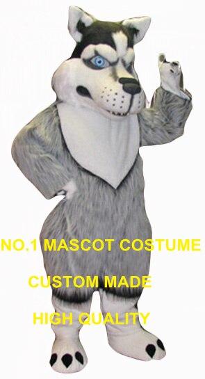 Nouveau costume de mascotte husky en gros à vendre de haute qualité réaliste gris huskie thème anime cosplay costumes carnaval fantaisie 2715