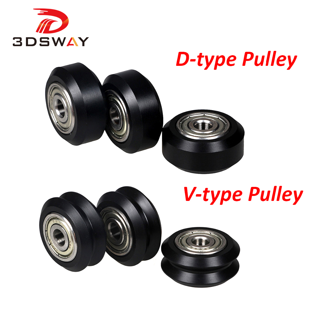 3DSWAY 3D Printer Parts D Type Pulley V Slot Wheel Pulley