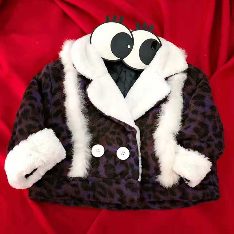 Fashion Winter Girls Coat Leopard Print Kids Girls Jackets And Coats Warm Parka Children Outerwear Clothes Boys Coat children autumn and winter warm clothes boys and girls thick cashmere sweaters