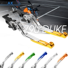 цена на WITH DUKE LOGO CNC Aluminum Motorcycle Accessories Adjustable Foldabel Extendable Brake Clutch Levers For KTM Duke 790 2018 2019
