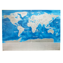 82.5x59.4cm Deluxe Blue Ocean Erase World Map Scratch Off World Map Personalized Travel Scratch For Home Decoration Wall Sticker