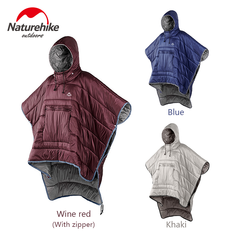 Naturehike Portable Quilt Warm Cotton Sleeping Bag Outdoor Camping Travel Men Women Wearable Water resistant Cloak