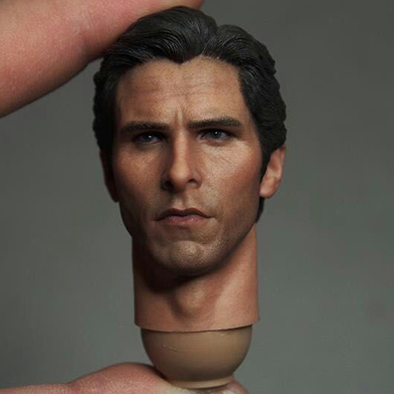 Mnotht Head Sculpt 1:6 Bruce Wayne Batman Head Sculpt Batman Begins Bale Headplay Action & Toy Figures For 12in Figure l30 mnotht 1 6 male solider new clown head carving mj12 top edition heath ledger head sculpt for 12in action figures l30