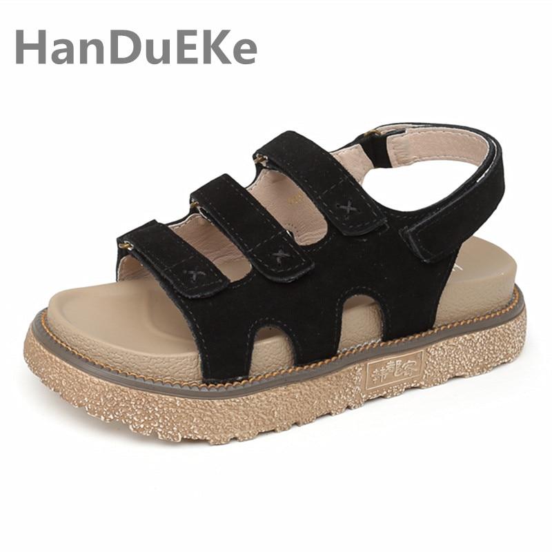 Para 41 Zapatos Tamaño Moda Vaca 42 43 Gamuza 2019 Las Sandalias Damas khaki De light Blush Plataforma Mujeres Gran Womann Casual Verano Nuevo Black Zq4HZw8A