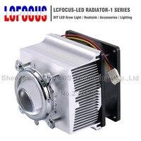 Светодио дный радиатор охлаждения радиатора + 60 90 120 градусов Lenes + отражатель кронштейн + вентиляторы для 20 30 50 100 Вт светодио дный удара